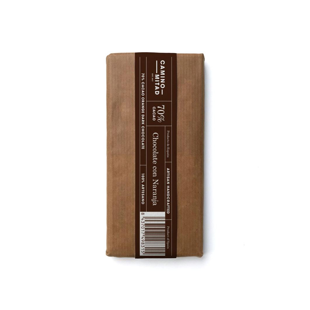 Chocolate Artesano Negro Con Naranja