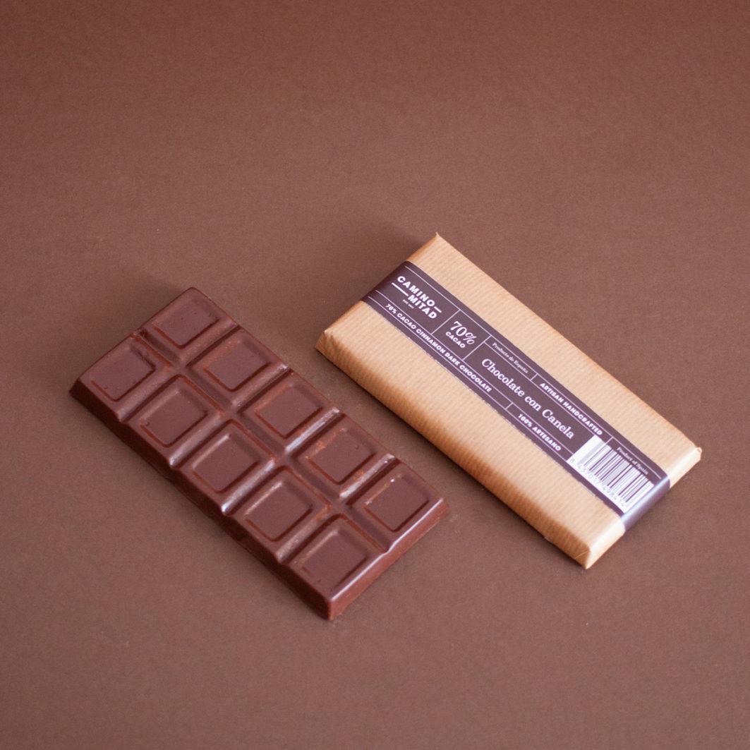 Barra de chocolate artesano con canela